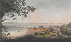 View of the Breach Causeway at Bombay.